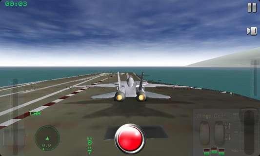 航母模拟飞机起降训练