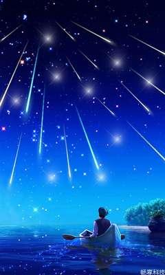 绚丽的视觉效果: ·繁星,流星均能动态展现. ·背景随屏幕动态移动.